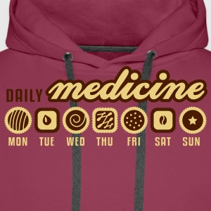 Dark pink Daily medicine of chocolate T-Shirts - Men's Premium Hoodie