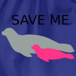 Ocean Seal with Calf Baby Save Me T-shirts - Gymtas