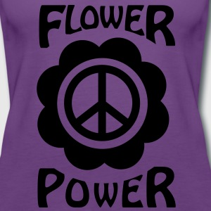 flower power T-Shirts - Frauen Premium Tank Top