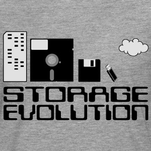 personal computer storage evolution T-Shirts - Men's Premium Longsleeve Shirt