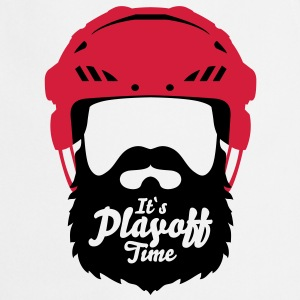 Eishockey Playoff Bart - Hockey Beard Helmet 1 T-Shirts - Kochschürze