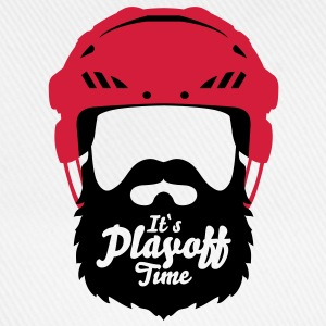 Eishockey Playoff Bart - Hockey Beard Helmet 1 T-Shirts - Baseballkappe
