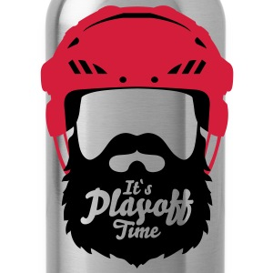 Eishockey Playoff Bart - Hockey Beard Helmet 1 T-Shirts - Trinkflasche