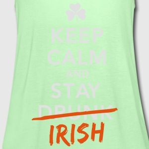 love keep calm drunk celtic irish st patricks day T-Shirts - Women's Tank Top by Bella