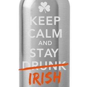 love keep calm drunk celtic irish st patricks day T-Shirts - Water Bottle