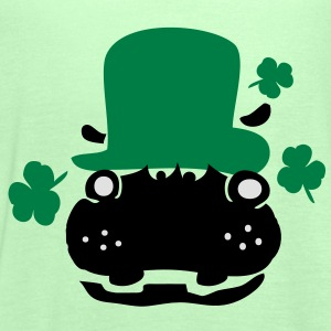 Hippo in green hat st.Patty's day Classic Teenager - Women's Tank Top by Bella