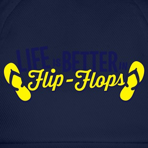 Royal blue Life is better in Flip-Flops T-Shirts - Baseball Cap