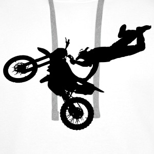 freestyle motorcyclist T-Shirts - Men's Premium Hoodie