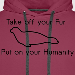 Take off your Fur T-shirts - Mannen Premium hoodie