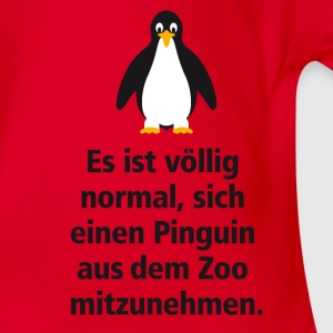 Kindershirt Pinguin aus dem Zoo - Baby Bio-Kurzarm-Body