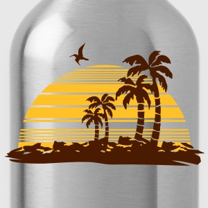 sunset island T-Shirts - Water Bottle
