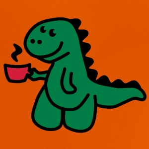 Coffee Makes My Day t rex  Tee shirts - T-shirt Bébé