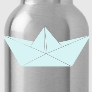 papier origami boat T-Shirts - Water Bottle