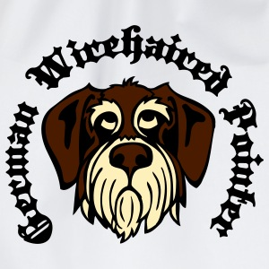 wirehaired_pointer_face_3c T-Shirts - Drawstring Bag