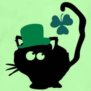 Cat in green hat lucky charm st.Patrick's day Clas - Baby T-Shirt