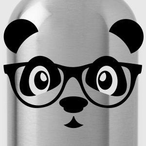 panda with glasses T-Shirts - Trinkflasche