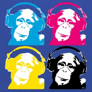 4 dj monkeys T-shirts - Premium-Luvtröja barn