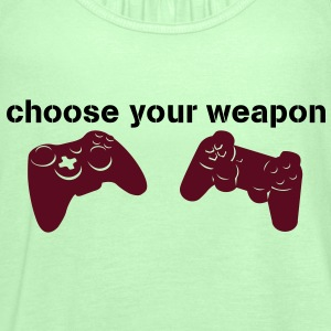 choose your weapon Camisetas - Camiseta de tirantes mujer, de Bella