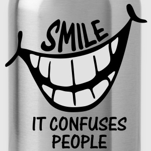 Smile It Confuses People - Kids Shirt - Water Bottle
