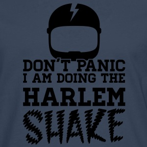 Don't panic do the Harlem shake meme dance t-shirt T-shirts - Herre premium T-shirt med lange ærmer