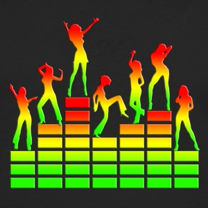 Dancing girls - Equalizer - EQ -  Music - Reggae Tee shirts - T-shirt manches longues Premium Homme