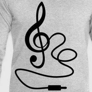 Instant Music * Treble Clef cable RCA plugs T-Shirts - Men's Sweatshirt by Stanley & Stella