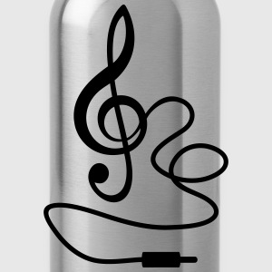 Instant Music * Treble Clef cable RCA plugs T-Shirts - Water Bottle