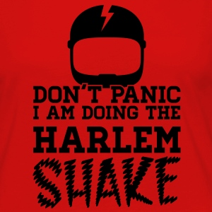 Don't panic do the Harlem shake meme dance t-shirt Camisetas - Camiseta de manga larga premium mujer