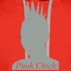Punk Chick T-Shirts - Men's Premium Hoodie