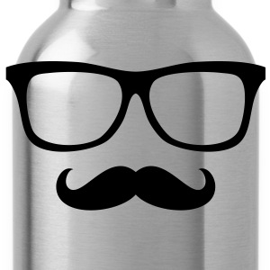 Moustache Glasses - Oberlippenbart Brille T-Shirts - Water Bottle