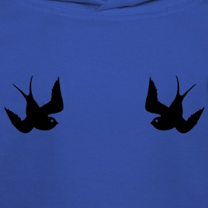 Tattoo Swallows Design Oldschool Birds Freedom Magliette - Felpa con cappuccio Premium per bambini