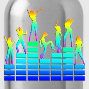 Dancing girls - equalizer - EQ -  music - sound Koszulki - Bidon