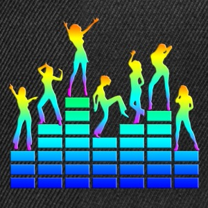 Dancing girls - equalizer - EQ -  music - sound Tee shirts - Casquette snapback
