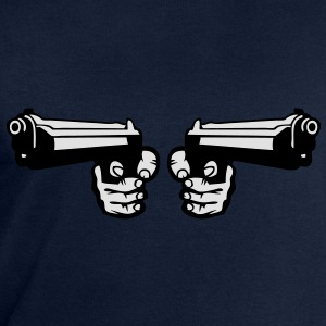 pistolet flingue revolver arme double Tee shirts - Sweat-shirt Homme Stanley & Stella