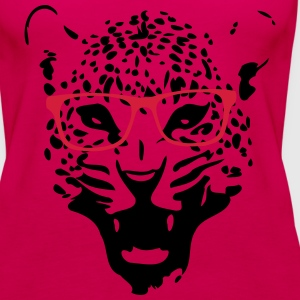 Leopard nerd glasses 2c T-Shirts - Women's Premium Tank Top