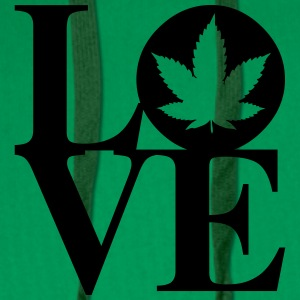 Cannabis Love Art Tee shirts - Sweat-shirt à capuche Premium pour hommes