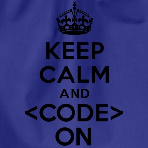 Keep calm code on Tee shirts - Sac de sport léger