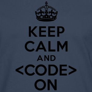 Keep calm code on Tee shirts - T-shirt manches longues Premium Homme