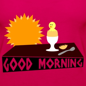 good morning T-shirts - Premiumtanktopp dam