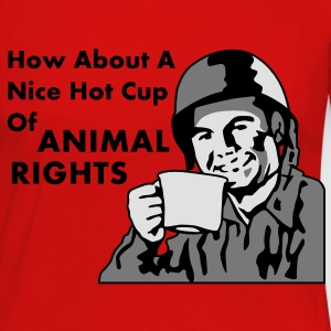 Soldier How About A Nice Hot Cup of ANIMAL RIGHTS T-Shirts - Women's Premium Longsleeve Shirt