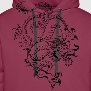 Chinese dragon by dk Tee shirts - Sweat-shirt à capuche Premium pour hommes