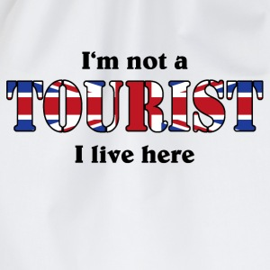 I'm not a Tourist, I live here - UK T-shirts - Gymtas