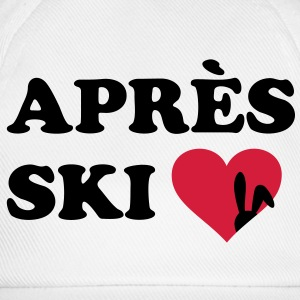 Apres Ski Rabbit loves skiing. skier T-Shirts - Baseball Cap