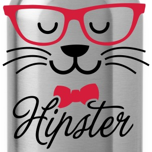 Swag hipsta hipster pussy cat animal style face T-Shirts - Water Bottle