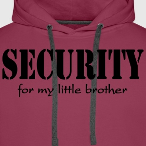 Security for my little Brother Koszulki - Bluza męska Premium z kapturem