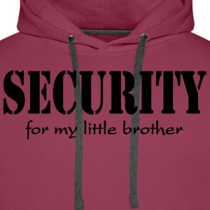 Security for my little Brother Shirts - Mannen Premium hoodie