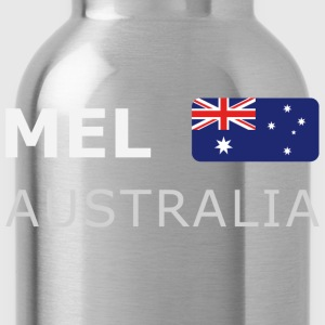 Classic T-Shirt MEL AUSTRALIA white-lettered - Water Bottle
