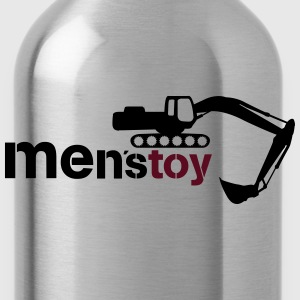 Men toy excavator  T-Shirts - Water Bottle