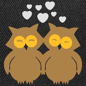Lovely Owls in Love T-shirts - Snapback Cap