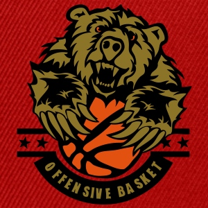 basketball ours bear logo sport Tee shirts - Casquette snapback